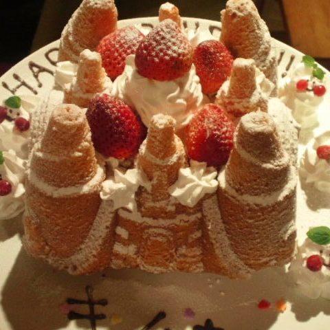 ピンクのお城ケーキサムネイル