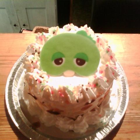 ガチャピンのケーキサムネイル