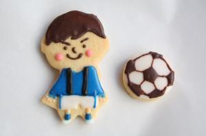 サッカーの男の子