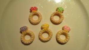 5色の指輪セット