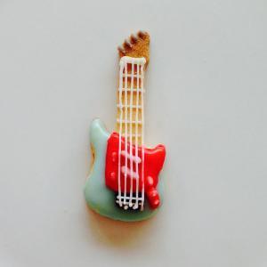 エレキギター*水色×赤