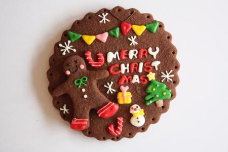 ジンジャーマンのクリスマスプレート