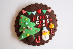もみの木のクリスマスプレート
