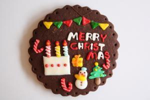 おおきなケーキのクリスマスプレート