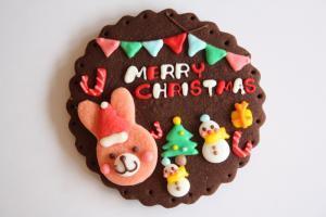 うさぎさんのクリスマスプレート